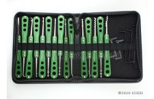 Green Stainless Steel Pick Set (21pc)