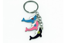 Colourful Key Chain - Dolphin Design