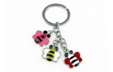 Colourful Key Chain - Bee Design