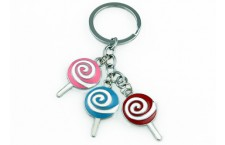 Colourful Key Chain - Lollipop Design
