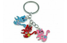 Colourful Key Chain - Cats Design