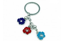 Colourful Key Chain - Orchid Design