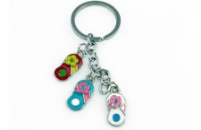 Colourful Key Chain - Slippers Design