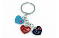 Colourful Key Chain - Heart Design