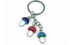 Colourful Key Chain - Mushroom Design