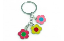 Colourful Key Chain - Big Flower Design