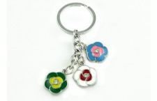 Colourful Key Chain - Small Flower Design