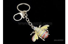 Diamond Studded Key Chain - Bee Design