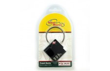 TSA529BLK (3 Digit Combination - Cable Type) Black Square Shape